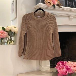 GAP Wool Blend Cable Knit  Poncho Tan Size M/L